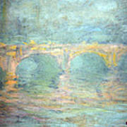 Monet's Waterloo Bridge In London At Sunset Art Print