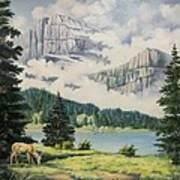 Morning At The Glacier Art Print