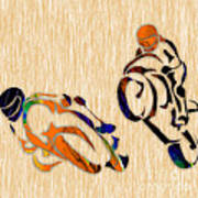 Motorcycle Racing Art Print