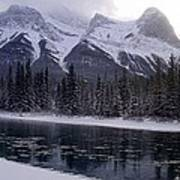 Mountain Sunset Christmas Canmore, Alberta Art Print