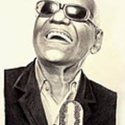 Mr. Ray Charles Art Print