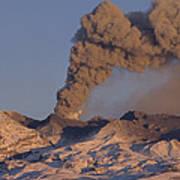 Mt Ruapehu 1996 Eruption New Zealand Art Print