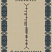 Murphy Written In Ogham Art Print