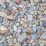 Natural Rock Pebble Backgorund Art Print