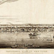 New York City, 1840 Art Print