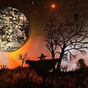 Night Of The Scarecrow  Art Print