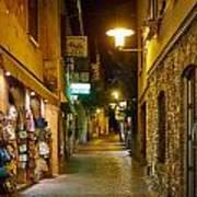 Night. Sirmione. Lago Di Garda Art Print