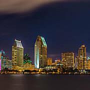 Cityscape San Diego Bay Art Print