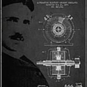 Nikola Tesla Patent From 1891 Art Print by Aged Pixel