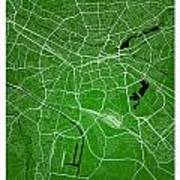 Nuremberg Street Map - Nuremberg Germany Road Map Art On Colored Art Print