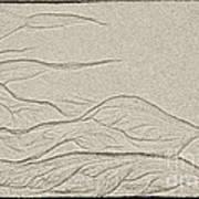 Ocean Sand Art Art Print