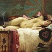 Odalisque Art Print by Pg Reproductions