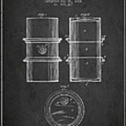 Oil Drum Patent Drawing From 1905 Art Print