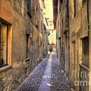 Old Colorful Stone Alley Art Print