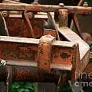 Old Mowing Machine Art Print