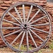 Old Wagon Wheel 2 Art Print