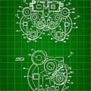 Optical Refractor Patent 1985 - Green Art Print