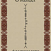 O'reilly Written In Ogham Art Print