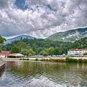Overlooking Chimney Rock And Lake Lure Art Print