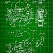 Padlock Patent 1935 - Green Art Print