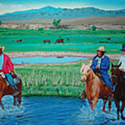 Paiute Cattlemen Art Print