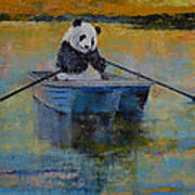 Panda Reflections Art Print by Michael Creese