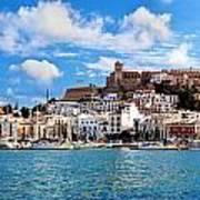 Panorama Of Ibiza Spain Art Print
