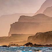 Panoramic Of Molokais North Shore Sea Art Print