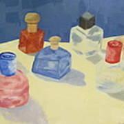Perfume Bottles Art Print