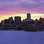 Philadelphia Skyline At Dusk Art Print