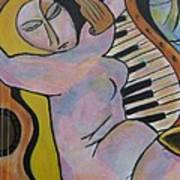 Pianos And Guitars Art Print by Chaline Ouellet