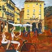 Piazza De Como Art Print