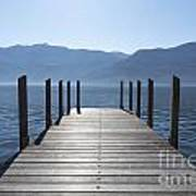 Pier On An Alpine Lake Art Print