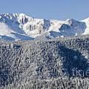 Pikes Peak Snow Art Print
