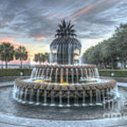 Majestic Sunset In Waterfront Park Art Print