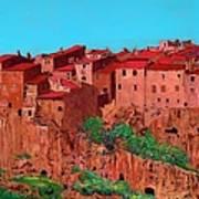 Pitigliano Village Art Print
