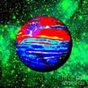 Planet Disector Red 1 Art Print