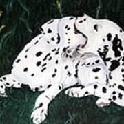 Playful Pups Art Print