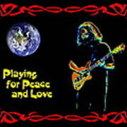 Playing For Peace And Love 1 Art Print