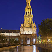 Plaza De Espana Tower In Seville Art Print