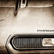 Plymouth Barracuda Grille Emblem Art Print