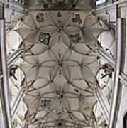 pointed vault of Saint Barbara church Art Print