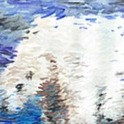 Polar Bear Reflection Art Print