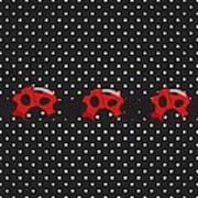 Polka Dot Lady Bugs Art Print