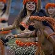 Polynesian Dancers Art Print