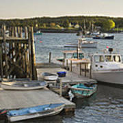 Port Clyde Maine Boats And Harbor Art Print