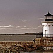 Portland Breakwater Lighthouse Art Print