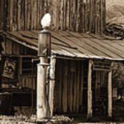 Post Office-gas Station Ghost Town Wagoner Arizona 1968 Art Print