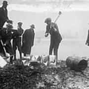 Prohibition Feds Destroy Liquor  1923 Art Print