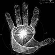 Quantum Hand Through My Eyes Art Print by Jason Padgett